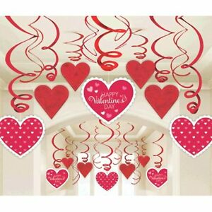 "Amscan Blushing Valentine's Foil Swirl Party Decoration (30 Piece), 7"",#369743"