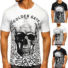 T-Shirt Tee Kurzarm Aufdruck Rundhals Slim Fit Motiv Sport Herren BOLF Classic