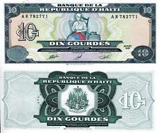 Haiti 10 Gourdes Banknote World Paper Money aUNC Currency Pick p-256 Bill Note