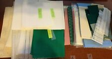 6 11 18 22 Count Adia & Waste Cloth Cross Stitch MISC Size Scraps MIXED LOT +1lb