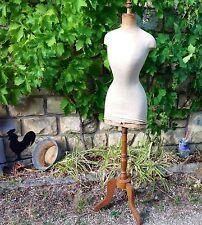 RARE mannequin ancien couture taille de guêpe objet de métier déco Shabby 19ème