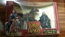 Lord of the Rings Deluxe Horse and Rider Set Two Towers Aragorn & Brego Toy Biz