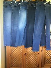 5 Pairs Of ladies stretch jeans size 14 Regular And One Pair Long used