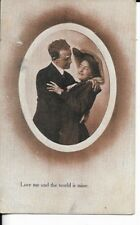 victorian era photo era postcard from 1911 love me and the world is mine