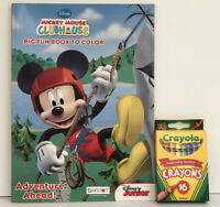 New Disney Mickey Mouse Clubhouse Big Fun Book To Color & Activities + Crayons