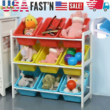 Solid Wood Toy Rack Kids' Toy Storage Organizer Children Finishing Storage Rack