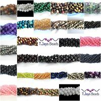 8mm Semi Precious Gemstone Rounds Beads Jewellery Making (approx 46-50 beads)