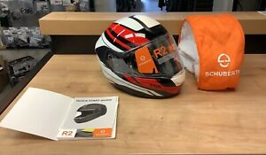 Schuberth R2 Enforcer Red Size 7 3/8 Large 59 Full Face Motorcycle Helmet
