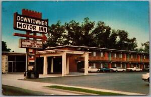 Florence, South Carolina Postcard DOWNTOWNER MOTOR INN Highway 301 Roadside 1973