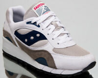 Saucony Shadow 6000 Mens White Grey Casual Lifestyle Shoes Sneakers S70441-1
