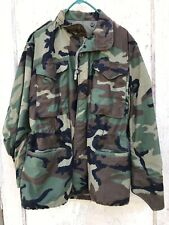Vintage US Army Woodland M-65 Field Jacket Coat Cold Weather Camo Small-Regular