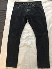 Double RRL Polo Ralph Lauren Slim Fit Faded Black Jeans 34x34