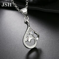 925 Silver wedding Necklace Jewelry Valentine gift Fashion crystal women LN049