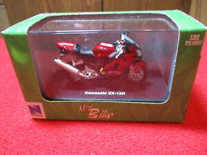 2004 New Ray Die Cast 1:32 Scale Kawasaki ZX-12R Motorcycle Hard Case Mini Bike