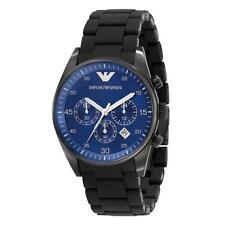 Nueva marca EMPORIO ARMANI Esfera Azul Cronógrafo Reloj para hombres AR5921