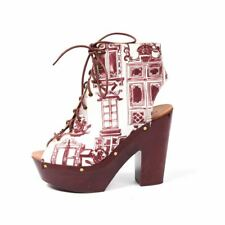OTHER STORIES Platform Boots Maroon Lace Up Size 37 DP 205