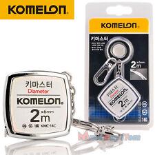 KOMELON KeyMaster Tape Measure Diameter Measuring Pocket Mini Key Chain Ring 2M