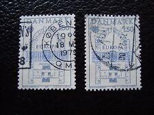 DANEMARK - timbre yvert et tellier n° 664 x2 obl (A33) stamp denmark (A)