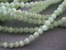 Light Green Cat's Eye Round 3mm Beads 126pcs