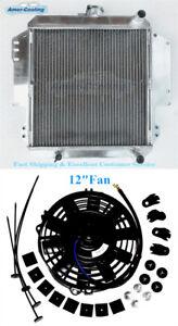 "2Row Aluminum Radiator + 12"" Fan For 1986-1988 Suzuki Samurai 1.3L I4"