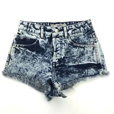 4ad05228fc Women's Topshop Moto Brooke Size 2 Acid Washed High Waisted Jean Shorts