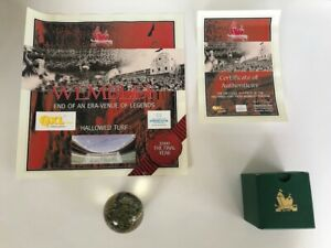 Original Wembley Turf With Certificate's Signed By Hurst & Peters AFTAL/UACC RD
