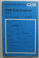 1975 old OS Ordnance Survey quarter-inch Fifth Series map 9 North East England
