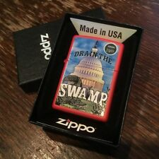 Zippo 233 DRAIN THE SWAMP *RARE* Donald Trump Congress Republican GOP Lighter