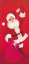 Vintage Red Santa Christmas card by Norcross