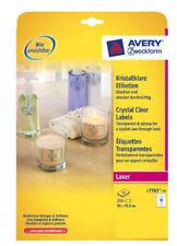 Avery Zweckform Crystal Clear Etiketten 96 X 50 8 Mm