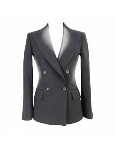 Issey Miyake Jacket Bulging Vintage Double-Breasted Clear Wool Grey