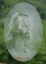 Jesus Christ Oval Static Cling Window Decal 4x6 Christian Decor for Glass Doors