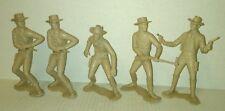 5 vtg original MARX 1960's 6 INCH shooting dueling gun fight COWBOYS  NOT REPROS