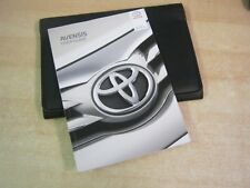 TOYOTA AVENSIS OWNERS MANUAL HANDBOOK PACK 2013-2016 Touch screen navi -W64