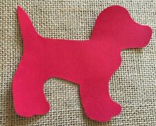 Fabric Iron on Red Dot Dog- Bunting Making - Personalisation