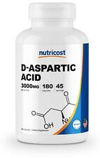 Nutricost D-Aspartic Acid Capsules (180 Capsules) (3000mg Serving)