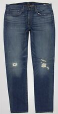 NWT Lucky Brand 121 Heritage Slim Blue Jeans MEN'S 36 x 34 7MP1898 Destroyed