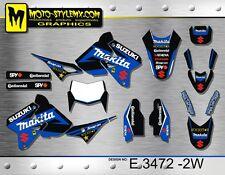 Suzuki DRz 400 1999 up to 2018 graphics decals kit Moto StyleMX