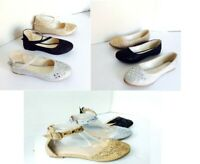 New women basic round toe  jeweled glitter ballet flats  loafer shoes