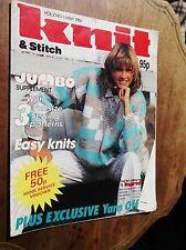 VINTAGE KNITTING PATTERN MAGAZINE KNIT & STITCH 1986 EASY KNITS COTTON FASHIONS