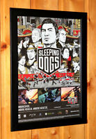 2012 Sleeping Dogs Rare Small Poster / Ad Page Framed Xbox PS3 Square Enix