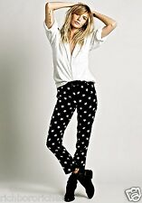 NWT Free People Harlyn black white Star Printed Trousers Pants XS