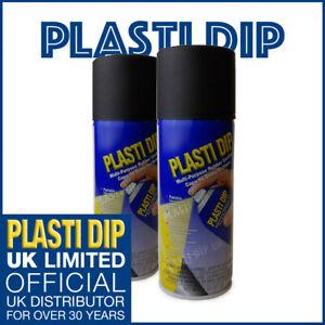2x Black PlastiDip - Plasti Dip / Rubber Paint - Spray Aerosol Can - Matt