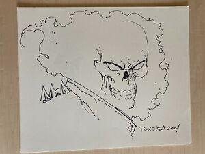 Ghost Rider ORIGINAL ART BY MARK TEXEIRA 14x17  Sketch Original Art