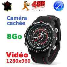 MONTRE CAMERA CACHEE DISCRETE ESPION VIDEO FULL HD 3264x2488 PIXELS ETANCHE 8 Go
