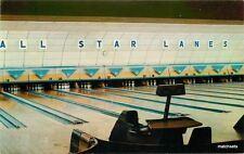 1950s Interior All Star Lanes Bowling Alley Lynnway Lynn Massachusetts Tichnor