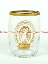 1959 Colorado Golden Coors Beer Gilded drinking barrel glass Tavern Trove
