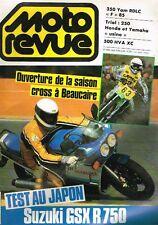 "B5- Moto Revue N°2690 Test Suzuki GSX R 750,500 HVA XC,350 YAM RDLC ""F"" 85"