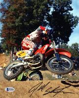 JEFF STANTON SIGNED AUTOGRAPHED 8x10 PHOTO MOTOCROSS LEGEND RARE BECKETT BAS