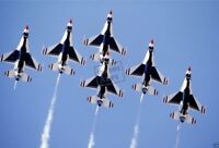 US AIR FORCE F-16 Fighting Falcon aircraft of the USAF Thunderbirds 8X12 PHOTO